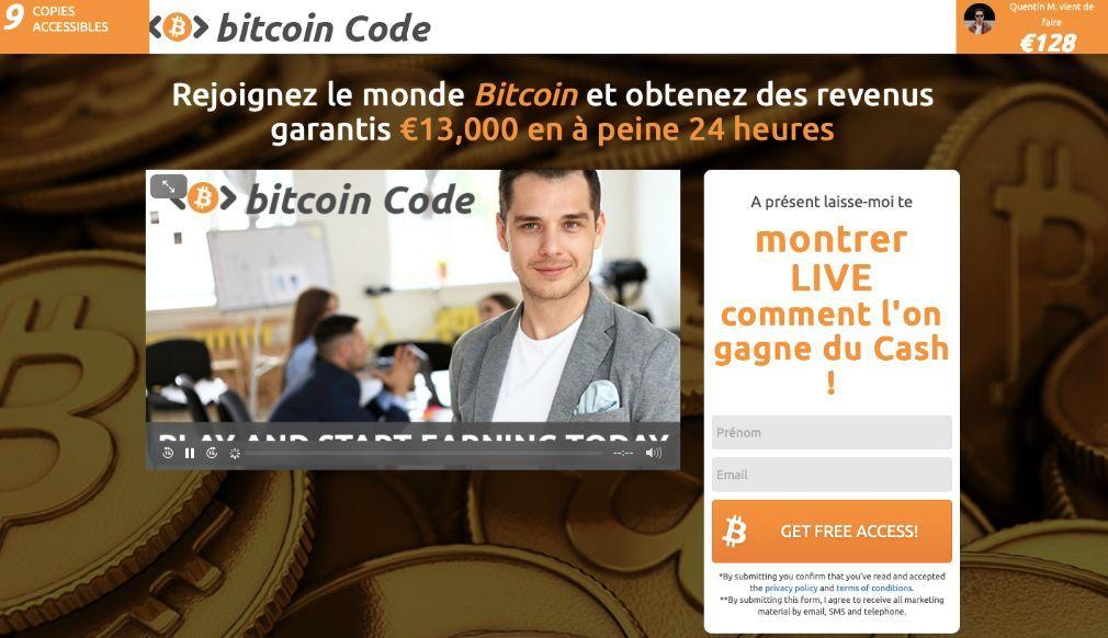 Bitcoin Code Avis 2021: est-ce une arnaque ou ça marche vraiment?